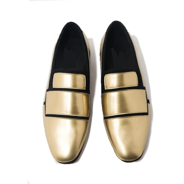 Geometric Black and Gold Banquet Loafer