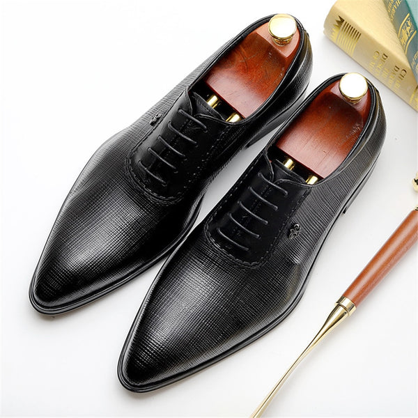 leather brogue black burgundy oxford shoe