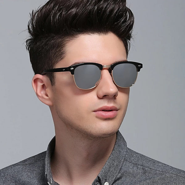 Semi-Rimless Vintage Sunglasses