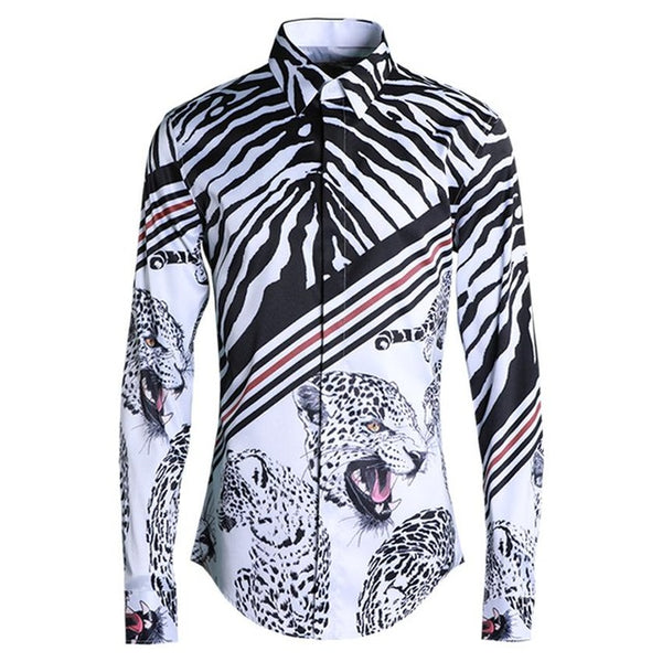 Speckle Leopard Slim Fit Shirts