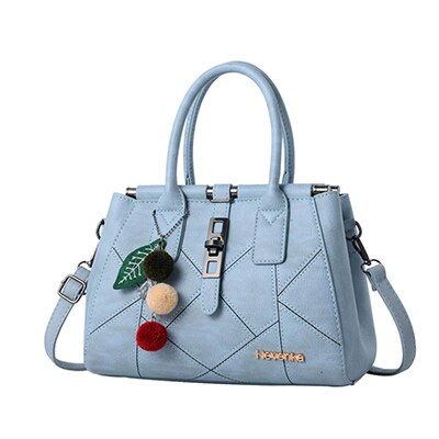 Top-handle Shoulder Leather Handbag