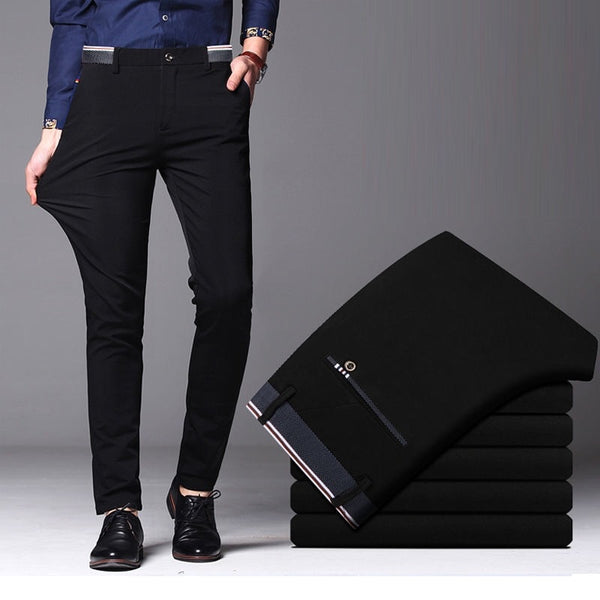 Suit Elastic Straight Formal Trouser