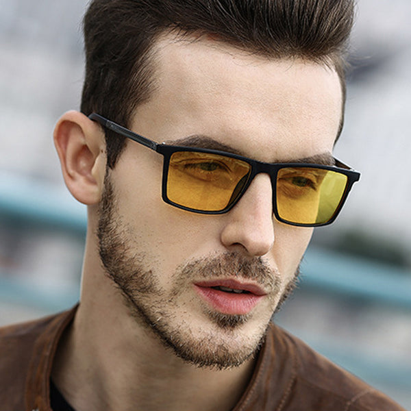 Square Polarized Mirror Driving Retro SunGlasses