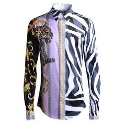 Printed Animal Tiger Long Sleeve Shirt