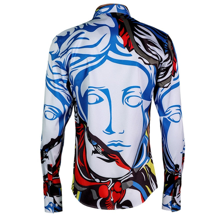 long sleeve Shirts Print Graffiti Heads Shirt