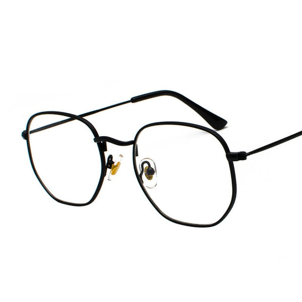 Vintage  Square Metal Frame Glasses