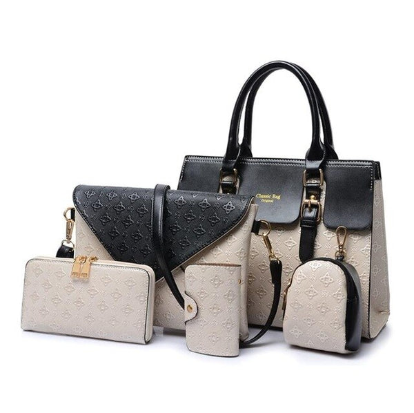 5Piece/Set  Leather Handbag