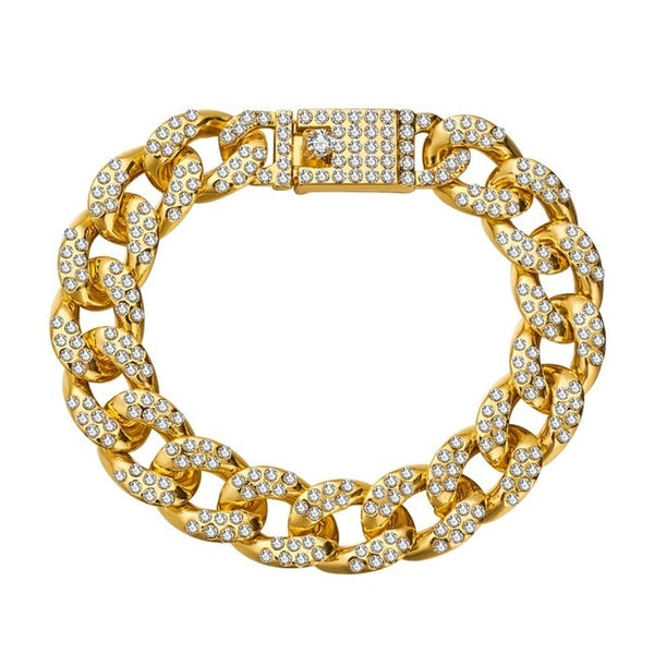Curb Cuban Chain Gold Color Bracelet