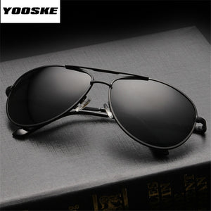 YOOSKE Brand Polarized Sunglasses Men Women Driving Driver Sun Glasses Vintage Rectangle Anti-UV Goggles Eyewear