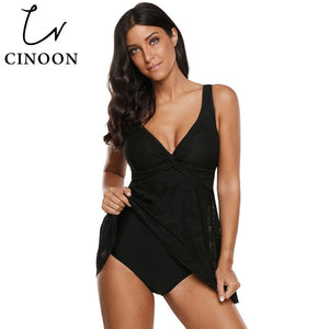 Plus size Swimwear Women May Large Size One piece Swimsuit Dress