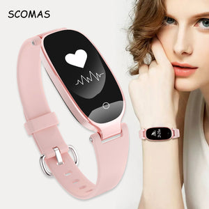 SCOMAS Fashion Smart Watch Bluetooth 4.0 Heart Rate
