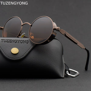 Classic Gothic Steampunk Sunglasses Polarized Men Women Brand Designer.