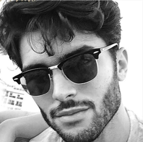 Hot Rays Sunglasses Men  Popular Brand Designer Retro Women Summer Style Sun Glasses Rivet Frame Colorful Coating Shades UV400