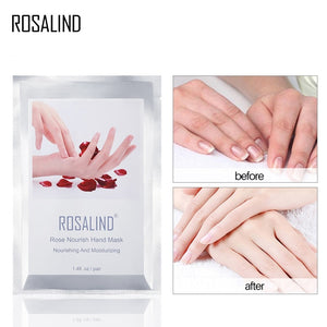 ROSALIND Exfoliating Hands Mask 2PC=1Pair Hand Care Moisturizing Spa Gloves Whitening Hand Cream Hand Scrub Remove Dead Skin