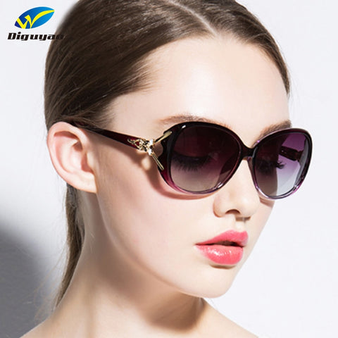 DIGUYAO 2019 New Oval Frame Sunglasses Women Elegant Goggles Fashion Sun Glasses Female Shades Eyewear Fox decoration