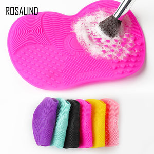 Rosalind Silicone brush cleaner Cosmetic Make Up Washing Brush Gel Cleaning Mat Foundation Makeup Brush Cleaner Pad Board Tools