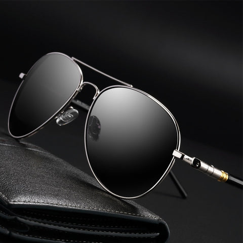 Pilot Polarized Sunglasses Men 2019 Retro Aviator Sunglasses Mens Brand Designer Black Mirror Driving Sun Glasses Men UV400