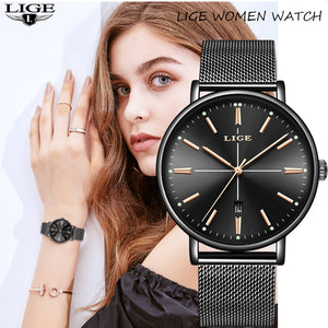 2019 LIGE New Women Watch Business Quartz Watch Ladies Top Brand Luxury Female Wrist Watch Women Girl Clock Relogio Feminin+box