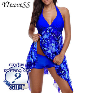 2019 New Plus Size Tankini set Women Swimwear.