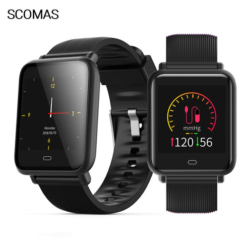 "SCOMAS Q9 Smart Watch Men Women 1.3""IPS Fitness Tracker Pedometer."