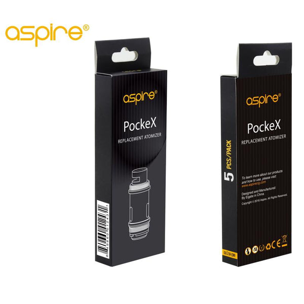 Aspire PockeX Coils - 0.6Ohm, Pack of 5 genuine coils - cometovape