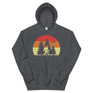 Spring Sunset Sasquatch - Gender Fluid Hoodie