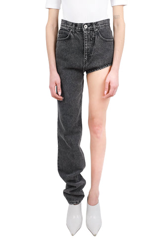 Straight one-leg jeans