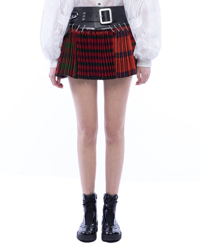 Ultra Mini Red Check Skirt