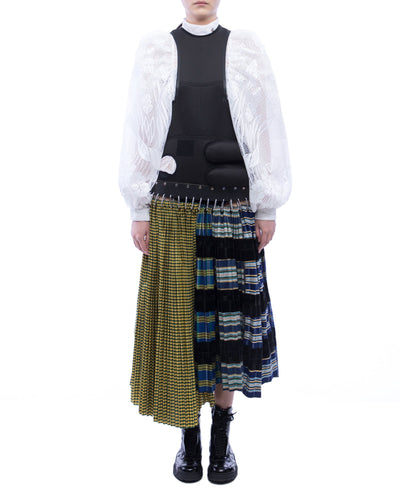 Neoprene Pinafore Kilt Skirt