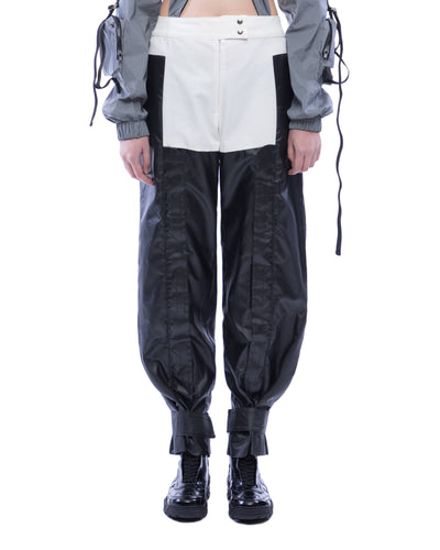 Black And White Chap Trousers