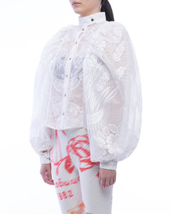 Picture Lace Puff Shirt