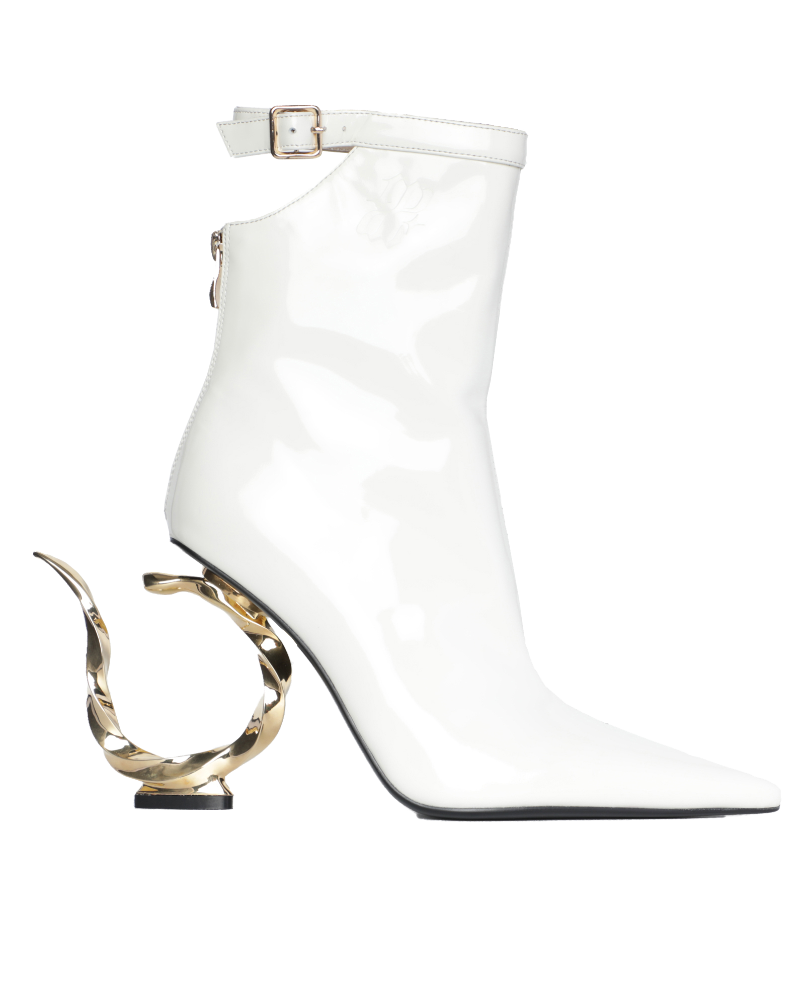 Metal hook heels - white