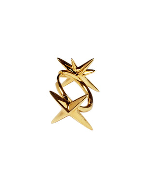 Circle Star  Earring - gold