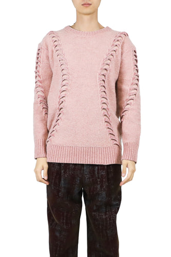 Chenille 3d-stitch oversized jumper