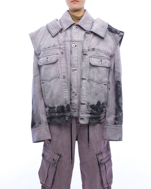 Acid washed denim jacket