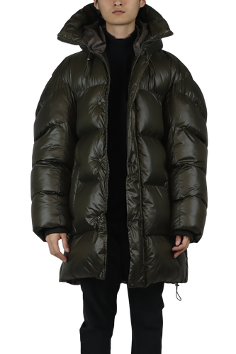 Puffy parka padded