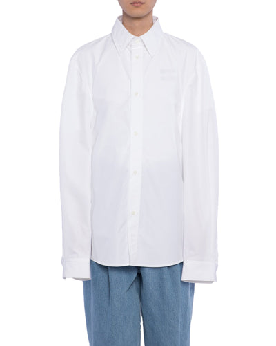 Buttoned shirt fb - white cotone