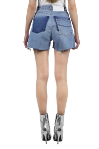 Reworked denim shorts with sequin details