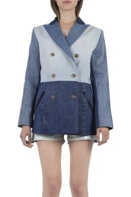 New denim patchwork blazer
