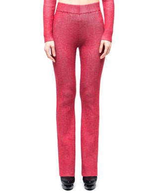 Skin-Knit Trousers - red light blue