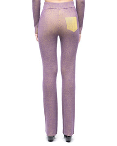 Skin-Knit Trousers - purple yellow