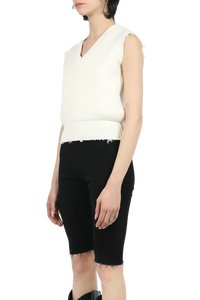 Fit knit vest - white