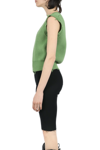 Fit knit vest - green