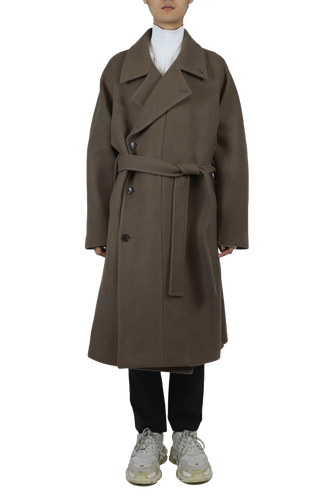 Wool lapel coat