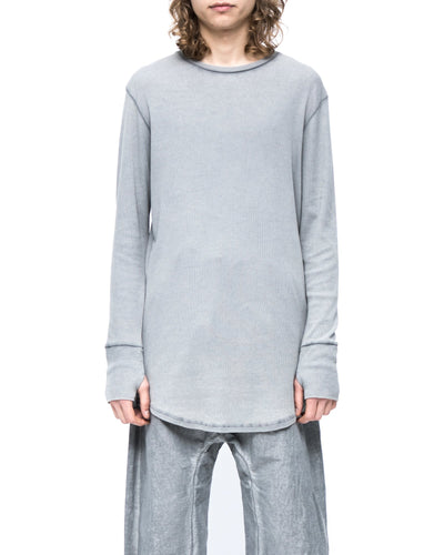 Long sleeve t-shirt rib - grey