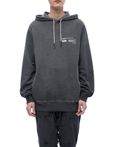 Hoodie with graphic print - carbon