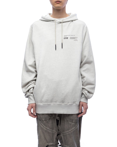 Hoodie with graphic print - off-white