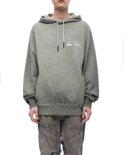 Hoodie with graphic print - olive