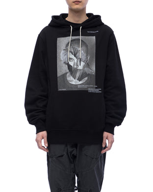 Hoodie with graphic print - black