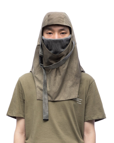 Facial garment with buckle - sand cracked
